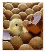 Oh No   It's Easter Fleece Blanket