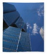 Oh So Blue - Downtown Toronto Skyscrapers Fleece Blanket