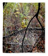 Oh What A Web We Weave Fleece Blanket