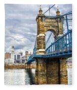 Ohio River Bridge Fleece Blanket