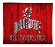Ohio State Buckeyes Barn Door Vignette Fleece Blanket