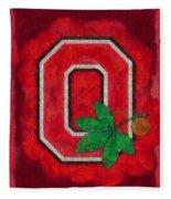 Ohio State Buckeyes On Canvas Fleece Blanket