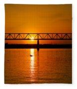 Ohio Sunset Fleece Blanket