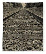 Ohio Train Tracks Fleece Blanket