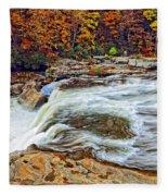 Ohiopyle Falls 2 Fleece Blanket