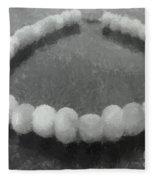 Ohrid Pearls Necklace Fleece Blanket