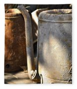 Oil Cans Picking Fleece Blanket