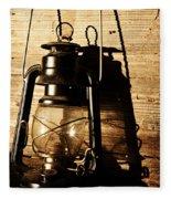 Oil Lantern Fleece Blanket