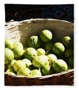 Oil Painting - Based Full Of Guavas Fleece Blanket