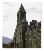 Oil Painting - Repair Of The Benedictine Abbey At Fort Augustus Now Apartments Fleece Blanket