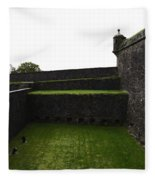 Oil Painting - The Depth Of The Moat Now Covered With Grass At Stirling Castle Fleece Blanket
