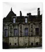Oil Painting - The Royal Palace Inside Stirling Castle In Scotland Fleece Blanket