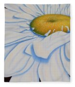 Oil Painting - Daisy Fleece Blanket
