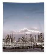 Oil Refinery Fleece Blanket