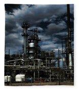 Oil Refinery Sinclair Wyoming Fleece Blanket