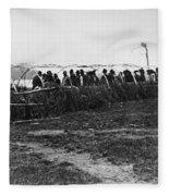 Ojibwa Lodge, 1909 Fleece Blanket