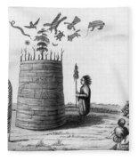 Ojibwa Medicine Man - To License For Professional Use Visit Granger.com Fleece Blanket