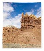 Ojitos De Los Gatos Panorama - New Mexico Fleece Blanket