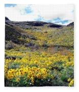 Okanagan Valley Sunflowers 1 Fleece Blanket