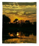 Okavango Sunset Fleece Blanket