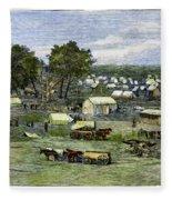 Oklahoma City, 1889 Fleece Blanket