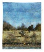 Oklahoma Hay Rolls Photo Art 02 Fleece Blanket