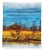 Oklahoma Hay Rolls Photo Art 03 Fleece Blanket