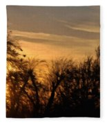 Oklahoma Sunset Fleece Blanket