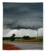 Oklahoma Wall Cloud Fleece Blanket