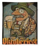Oktoberfest Guy Poster Fleece Blanket