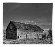 Old Abandoned Barn - D Rd Nw - Douglas County - Washington - May 2013 Fleece Blanket
