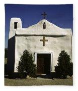 Old Adobe Church Fleece Blanket
