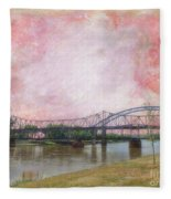 Old Amelia Earhart Bridge Fleece Blanket