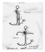 Old Anchor Patent Fleece Blanket
