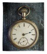 Old Antique Pocket Watch Fleece Blanket