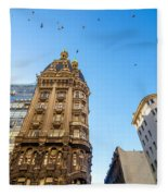 Old Apartment Building Fleece Blanket