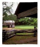 Old Appalachian Barn Yard Fleece Blanket