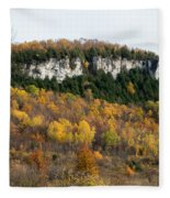 Old Baldy In Fall Fleece Blanket