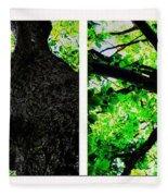 Old Barks Diptych - Deciduous Trees Fleece Blanket
