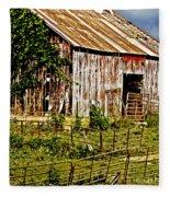 Old Barn #3 Fleece Blanket