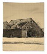 Old Barn Fleece Blanket