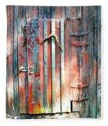 Old Barn Door 2 Fleece Blanket