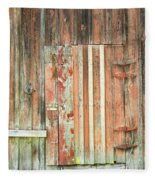Old Barn Door Fleece Blanket