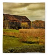 Old Barn In October Fleece Blanket