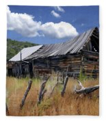 Old Barn Las Trampas New Mexico Fleece Blanket