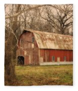 Old Barn Near Rhineland Mo Dsc09267 Fleece Blanket