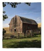 Old Barn On The Palouse Fleece Blanket