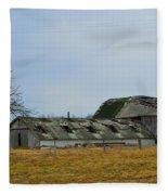 Old Barns In The Heartland Fleece Blanket