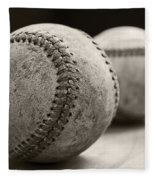 Old Baseballs Fleece Blanket