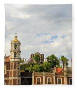 Old Basilica Of Guadalupe Fleece Blanket